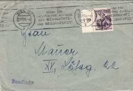 Österreich 1951 - 30 Gro M.Randstück + Sonder-Rollenstempel Auf Brief Als Drucksache - Marcofilia - EMA ( Maquina De Huellas A Franquear)