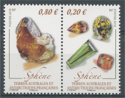 French Antarctic (FSAT), Mineral, Titanite (Sphene), 2016, MNH VF - French Southern And Antarctic Territories (TAAF)
