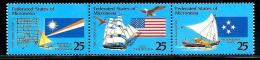 "Micronesia      ""Flags""       Set   (strip Of 3)        SC#  124-26a     MNH** - Micronesia"