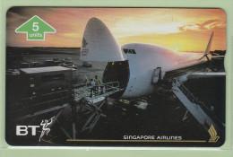 UK - BT General - 1996 Singapore Airlines V - 5u Boeing 747-400F - BTG742 - Mint - United Kingdom