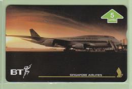 UK - BT General - 1996 Singapore Airlines II - 5u Changi Airport - BTG661 - Mint - BT Zivile Luftfahrt