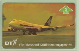 UK - BT General - 1995 Singapore Airlines - 5u Boeing B747-400 - BTG563 - Mint - Aerei