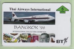 UK - BT General - 1996 Thai Airways - 5u Boeing 747 - BTG743 - Mint - Aerei