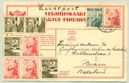 Nederlands Indië - 1949 - Menari-danseres Verhuiskaart Met Royale Bijfrankering Per Luchtpost Naar Baarn / Nederland - Netherlands Indies