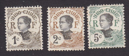 Indo China , Scott #41-42, 44, Mint Hinged, Annamite Girl, Issued 1907 - Indochina (1889-1945)