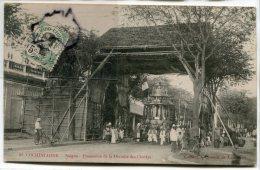 - 68 - Cochinchine - Saigon - Procession De La Divinité Des Chettys, Belle Animation, Des Vélos, écrite, TBE, Scans. - Viêt-Nam