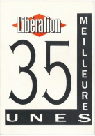 """Journaux -- Carte Reclame  """" Liberation """" 35 Meilleurs Unes - Pubblicitari"""