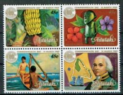 Aitutaki 1983 Commonwealth-Tag Michel N° 456-59 Postfrisch MNH - Aitutaki
