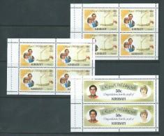 Kiribati 1981 Charles & Di Royal Wedding 3 Booklet Panes MNH - Kiribati (1979-...)