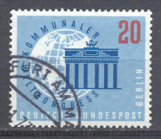 Berlin YT N°168 Congrès Mondial Des Municipalités Oblitéré ° - Oblitérés