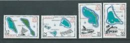Kiribati 1983 Island Maps Series II Set 4 MNH - Kiribati (1979-...)