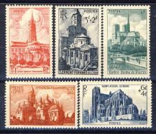 Francia 1947 Serie N. 772-776 Cattedrali E Basiliche MNH GO Catalogo € 12,50 - Ungebraucht