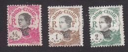 Indo China , Scott #97-99, Mint Hinged, Annamite Girl, Issued 1922 - Indochina (1889-1945)