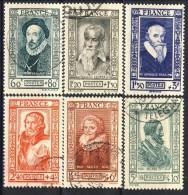 Francia 1943 Serie N. 587-592 Celebrità Usati Catalogo € 15 - Used Stamps
