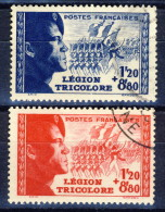 Francia 1942 Serie N. 565-566 Pro Legione Tricolore Usati Catalogo € 25 - Used Stamps