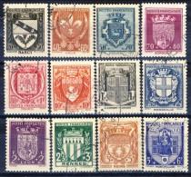 Francia 1941 Serie N. 526-537 Stemmi Di Città Usati Catalogo € 38 - Used Stamps