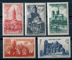 """Timbres** De 1947 """"Série De 5 Timbres : Cathédrales Et Basiliques"""" - Ungebraucht"""