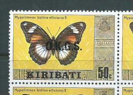 Kiribati 1981 Watermark Officials 50c Moth MNH - Kiribati (1979-...)