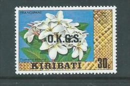Kiribati 1981 Watermark Officials 30c Flower MNH - Kiribati (1979-...)