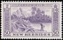 NEW HEBRIDES, British - Scott #89 Tropical River / Mint LH Stamp - English Legend