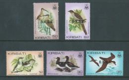 Kiribati 1983 Bird Official Overprint Set Of 5 MNH - Kiribati (1979-...)