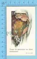 FB Aquarel 13 ( Toutes Les Générations Me Diront Bienheureuse ) Image Pieuse Holy Card Santini 2 Scan - Images Religieuses