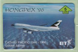 UK - BT General - 1996 Cathy Pacific - 5u Boeing B747-400 - BTG659 - Mint - Avions