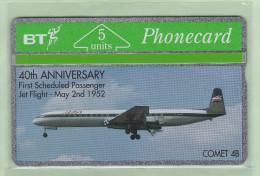 UK - BT General - 1992 40th Anniversary - 5u Comet 4B - BTG046 - Mint - Airplanes