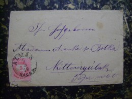 Envelope-BacsAlmas-Ketl??-5    -125x83mm-1878 (3417) - Ungheria