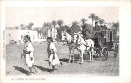¤¤  -  52   -  EGYPTE  - LE CAIRE  -  Voiture Avec Saïs  -  Attelage De Chevaux   -  ¤¤ - Cairo