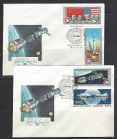 SOWJETUNION - FDC Mi-Nr. 4371 - 4374 Amerikanisch-sowjetisches Raumfahrtunternehmen Apollo-Sojus 2 Belege - 1923-1991 UdSSR