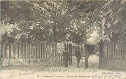 01 Pont D'Ain, Entrée De L'Ambulance, Poilus Au 1er Plan, Cachet De L'ambulance, 1917 - Otros Municipios