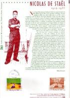 """ASSEZ  RARE  --  FRANCE  2005  -- NICOLAS  DE  STAEL  1914 / 1955   --  """"""""""""  SICILE  """"""""""""  TABLEAU  DU  PEINTRE..... - Documents Of Postal Services"""