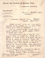 BELGIQUE - PUY DE DÔME - DE BRUXELLES A AMBERT - BIJOUTERIE , PARFUMERIES - DE PAUL POTTELLET A MR OUVRY - LETTRE 1900 - Belgique