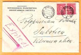 Yugoslavia Traveled Express Letter 1932 Y Postmark Novi Sad To Subotica - 1931-1941 Kingdom Of Yugoslavia