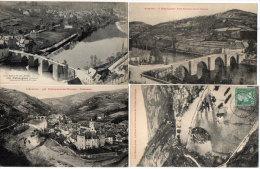 ENTRAYGUES - 4 CPA - Le Vieux Pont - Le Pont Romain  - Panorama - Usine Electrique    (85348) - France