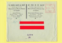 Enveloppe Et Dépliant De L' Asbl LE SOLEIL DANS LA NUIT - 1961 - Destination Luttre - Timbreuse F701    (4114) - Franking Machines