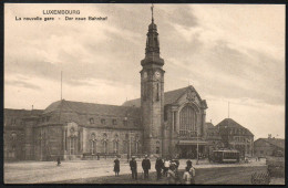 1710 - Ohne Porto - Alte Ansichtskarte - Luxembourg Gare Bahnhof  - N. Gel TOP - Luxemburg - Town