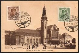 1711 - Ohne Porto - Alte Ansichtskarte - Luxembourg Gare Bahnhof  - 1927 - TOP - Luxemburg - Town