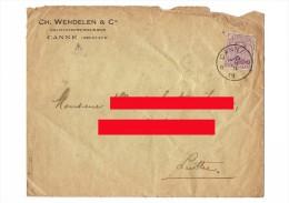 Enveloppe De La Société CH. WENDELEN & Cie - Cultivateurs-Grainiers à CANNE ( Actuellement KANNE ) Cachet Luttre  (4115) - 1915-1920 Albert I