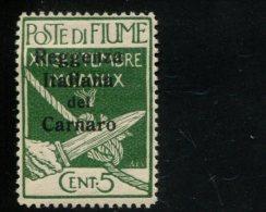 ITALIE FIUME MET SCHARNIER  AVEC CHARNIERE HINGED MIT FALZ YVERT 116 - 8. WW I Occupation