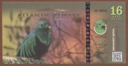 ATLANTIC FOREST 16 Aves Dollars 2016 UNC - Billets