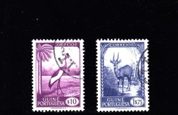1948 -PORTUG. GUINEA - O/FINE USED - FAUNA - Yv/Mi. 259, 266 - Portugiesisch-Guinea