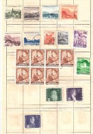 LIECHTENSTEIN , Ensemble De 28 Timbres Neufs ** /* / O, Années 30-60 Dont Poste Aérienne , 2 Scans,TB - Collections