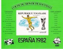 Togo Hb Michel 177 Al 181 - 1982 – Espagne