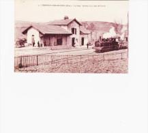 FERRIERES-SUR-SICHON   La Gare Arrivée D'un Train Vapeur Et Animations - France