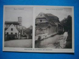 Souvenir De GRUMBRECHTSHOFFEN  -  67  -  Eglise Protestante  -  Moulin Et Ecluse  -  Bas Rhin - Andere Gemeenten