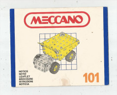 G-I-E , Notice , Brochure , MECCANO 101 , 2 Scans ,  Frais Fr : 1.95€ - Meccano