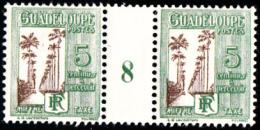 GUADELOUPE - TAXE N° 27* - 5c Allée Dumanoir - Millésime 8. - Guadeloupe (1884-1947)