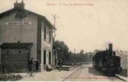 Senan-La Gare De Senan-Volgré-Gros Plan De Train-Karl Guillot - Autres Communes